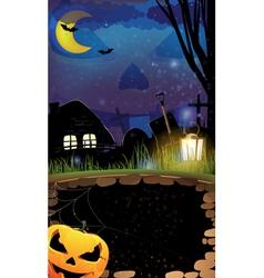 Night Halloween background vector image