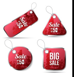 Red tag label for sale promotion vector image