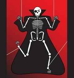 Human skeleton halloween vector