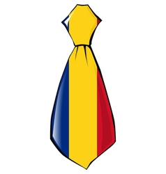 Necktie in national colours of romania vector