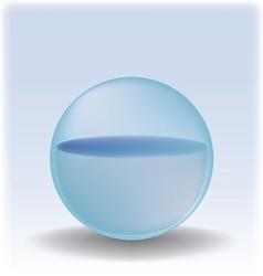 Water sphere vector image