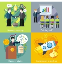 Business concept investment advice meetings vector