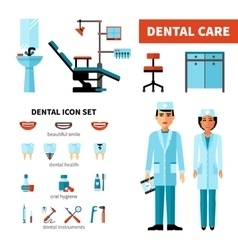 Dentist design concept vector