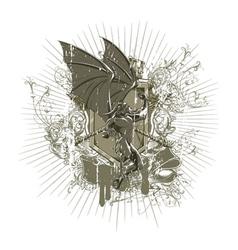 Vintage grunge t-shirt design vector