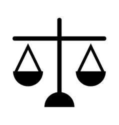 Scales of justice icon isolated design vector