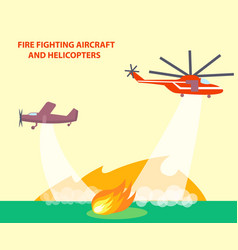 aircraft and helicopters poster with text vector image