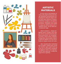 artist paiting materials and creative art picture vector image