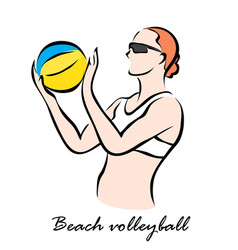 beach volleyball vector image vector image
