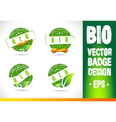 Bio badge logo vector
