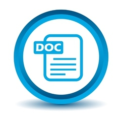 Blue doc icon vector