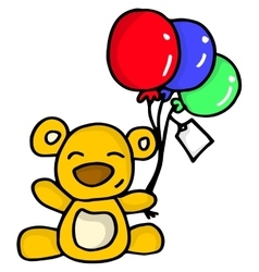Collection of bear with balloon vector image vector image