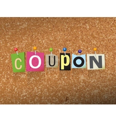 Coupon concept vector