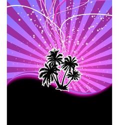 Discotheque night palm vector