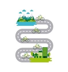Ecology and green idea design vector