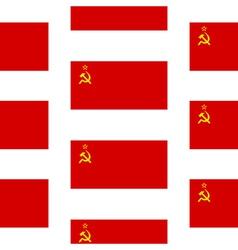 Flag of the soviet union seamless pattern vector