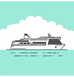 Flat ferryferry boat vector