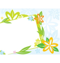 frame with spring flowers vector image vector image