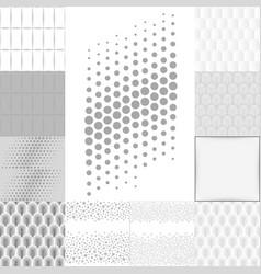 Grey white background set vector