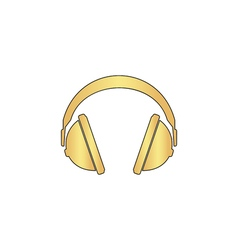 Headphone computer symbol vector