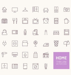Household outline icons for web and mobile apps vector