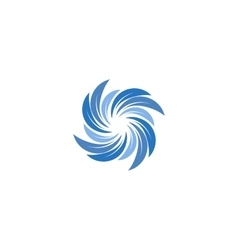 Isolated abstract blue color spining spiral logo vector image vector image