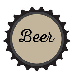 Isolated beer bottle cap vector