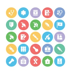 Medical colored icons 5 vector