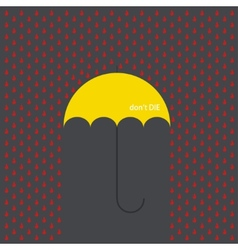modern umbrella with drops vector image vector image