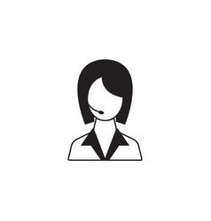Online help solid icon customer service vector