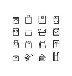 Package and bags icons set vector