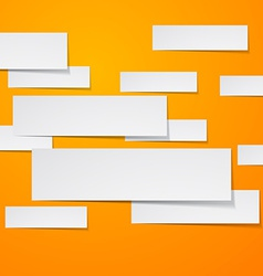 Paper white rectangular banners vector image