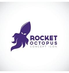 Rocket Octopus Abstract Concept Icon vector image vector image