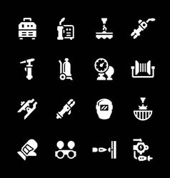 Set icons of welding vector