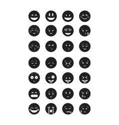 Set of Emoticon vector image vector image