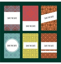 Set of perfect card templates vector image vector image