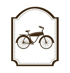Silhouette brown of classic bicycle in frame vector