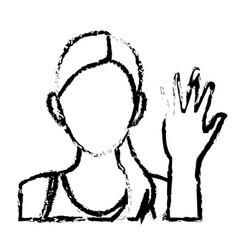 Sketch character woman portrait sport vector
