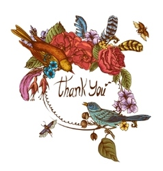 Thank You Hand Drawn Greeting Card vector image vector image