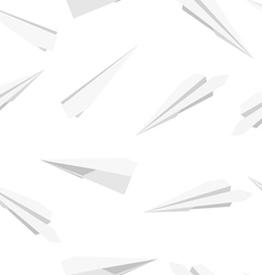 White Paper planes seamless wallpaper vector image