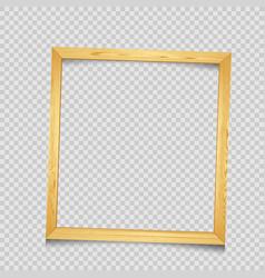 wooden square frame transparent background vector image