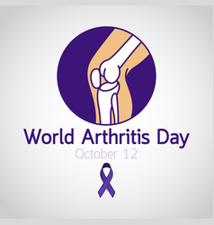 world arthritis day icon vector image vector image