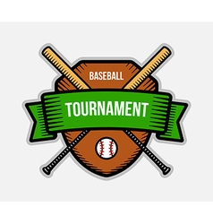 Baseball summer sport tournament logo vector
