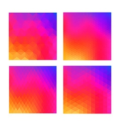Abstract color background set for social media ui vector