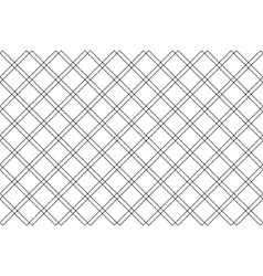 Black white fabric texture diagonal check seamless vector