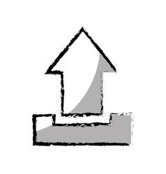 Arrow upload isolated icon vector