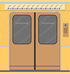 Old subway train doors vector