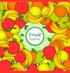 fruit frame vector image