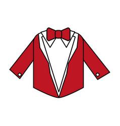 color silhouette image wedding suit male jacket vector image