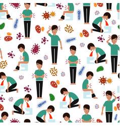 Viral diseases seamless pattern - medicinal vector