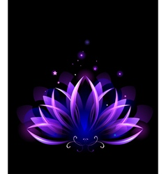 Purple lotus vector